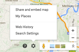 where My Places hides in new google maps.