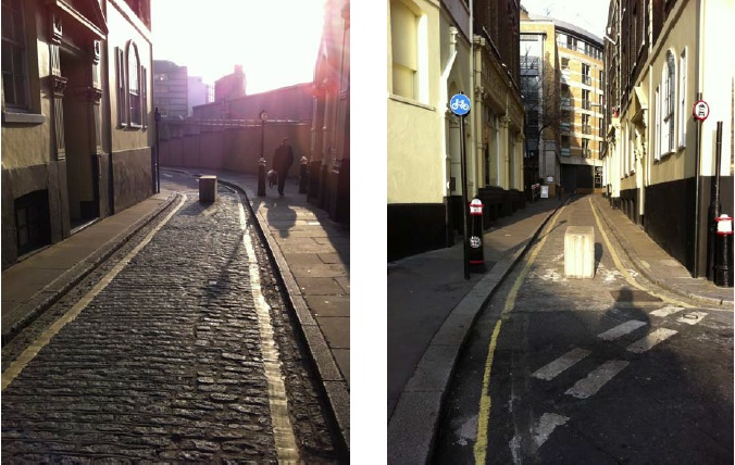 Black Friars Lane, City of London - another example of a quietway cited.