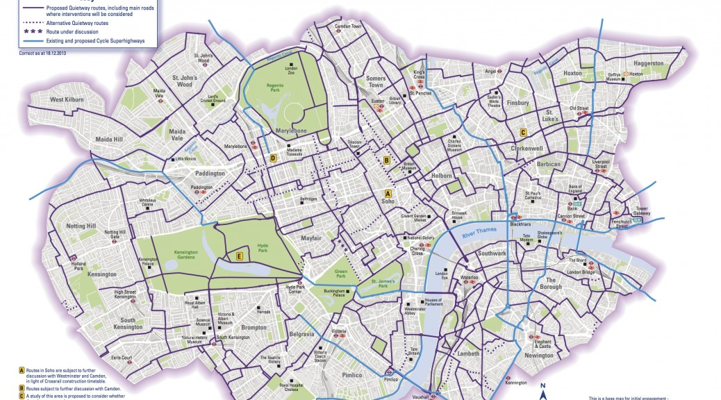 central london cycle grid hfcyclists