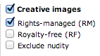 search for rights managed images