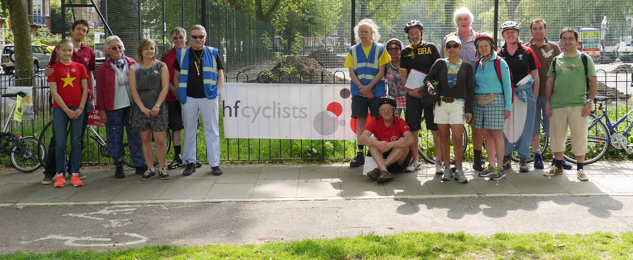 hfcyclists before setting off to The Big Ride 2014