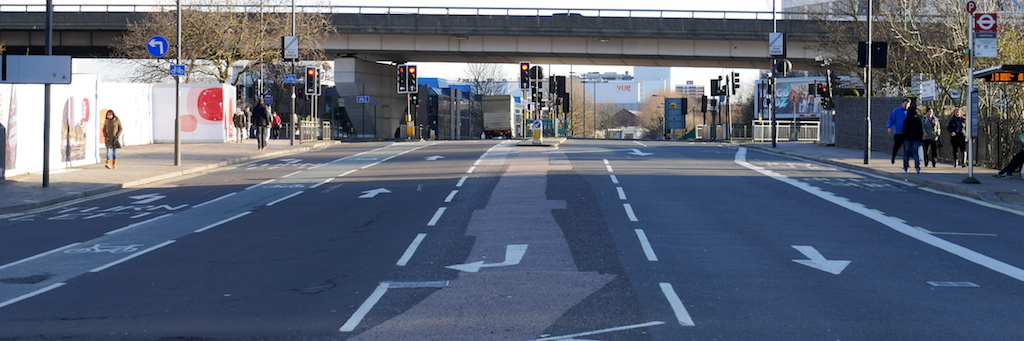 Space for five lanes. Surely there's more Space For Cycling here?